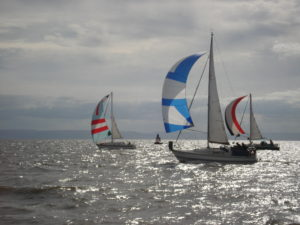 Racing yachts.