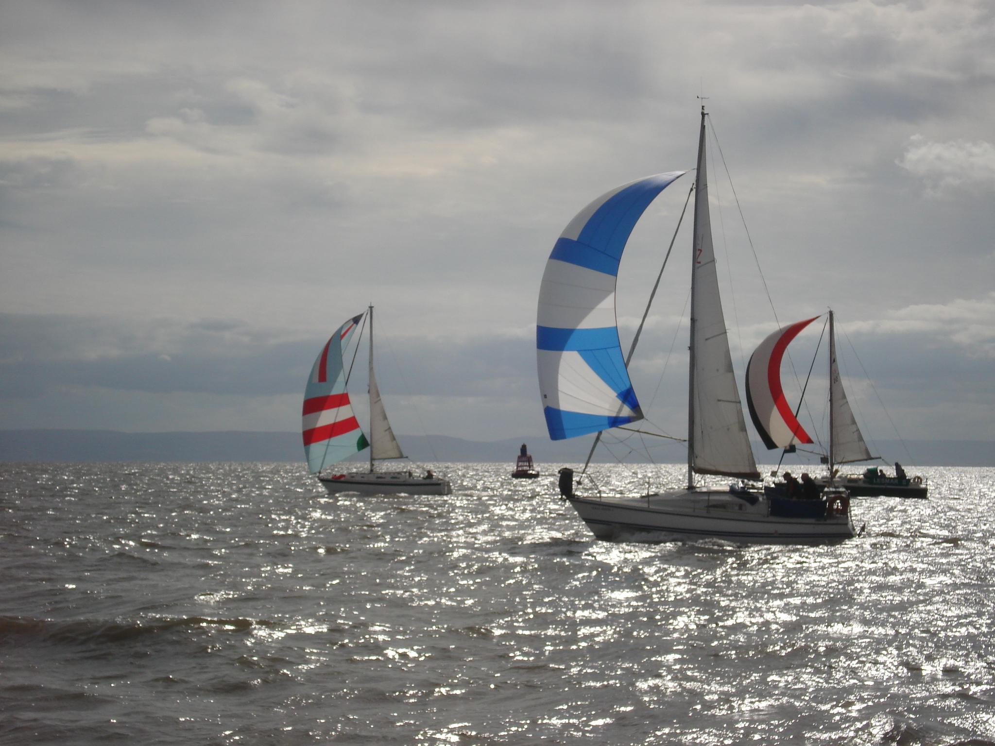 Racing yachts.