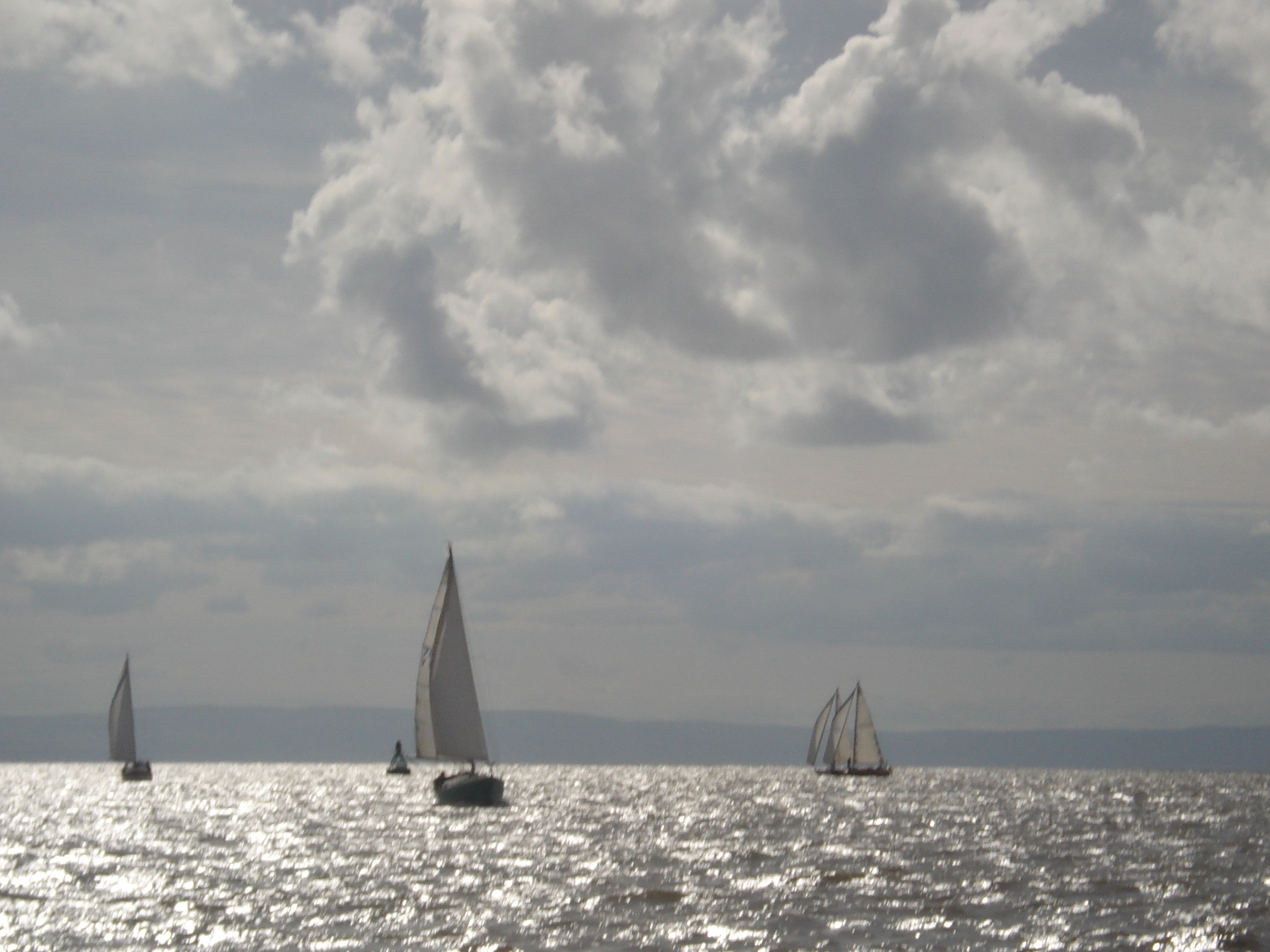 Yachts racing in Bristol Channel