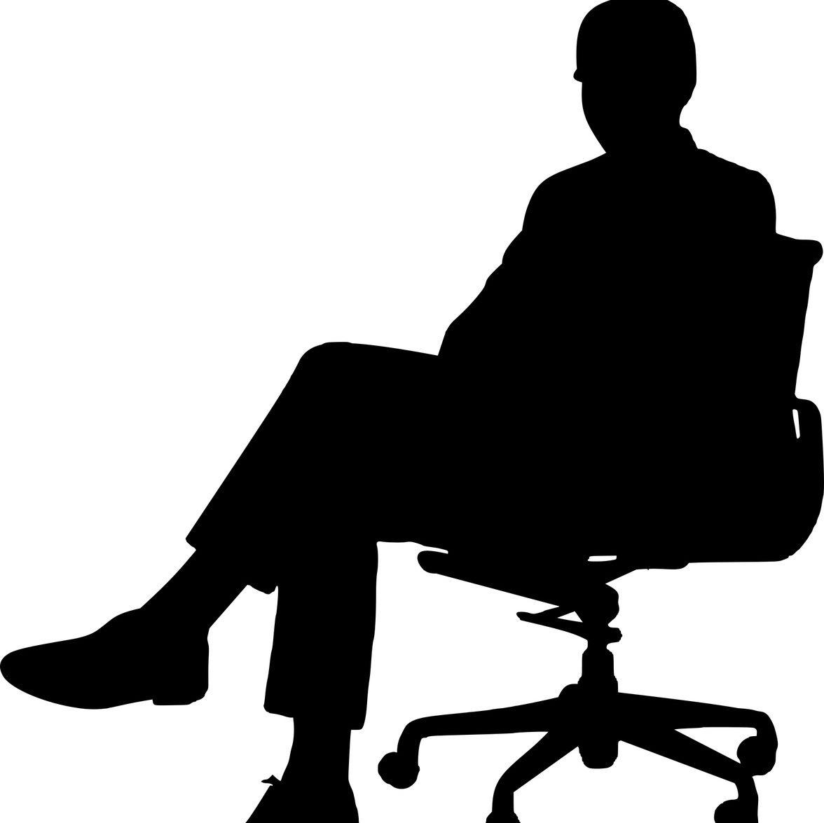 Silhouette of man sitting