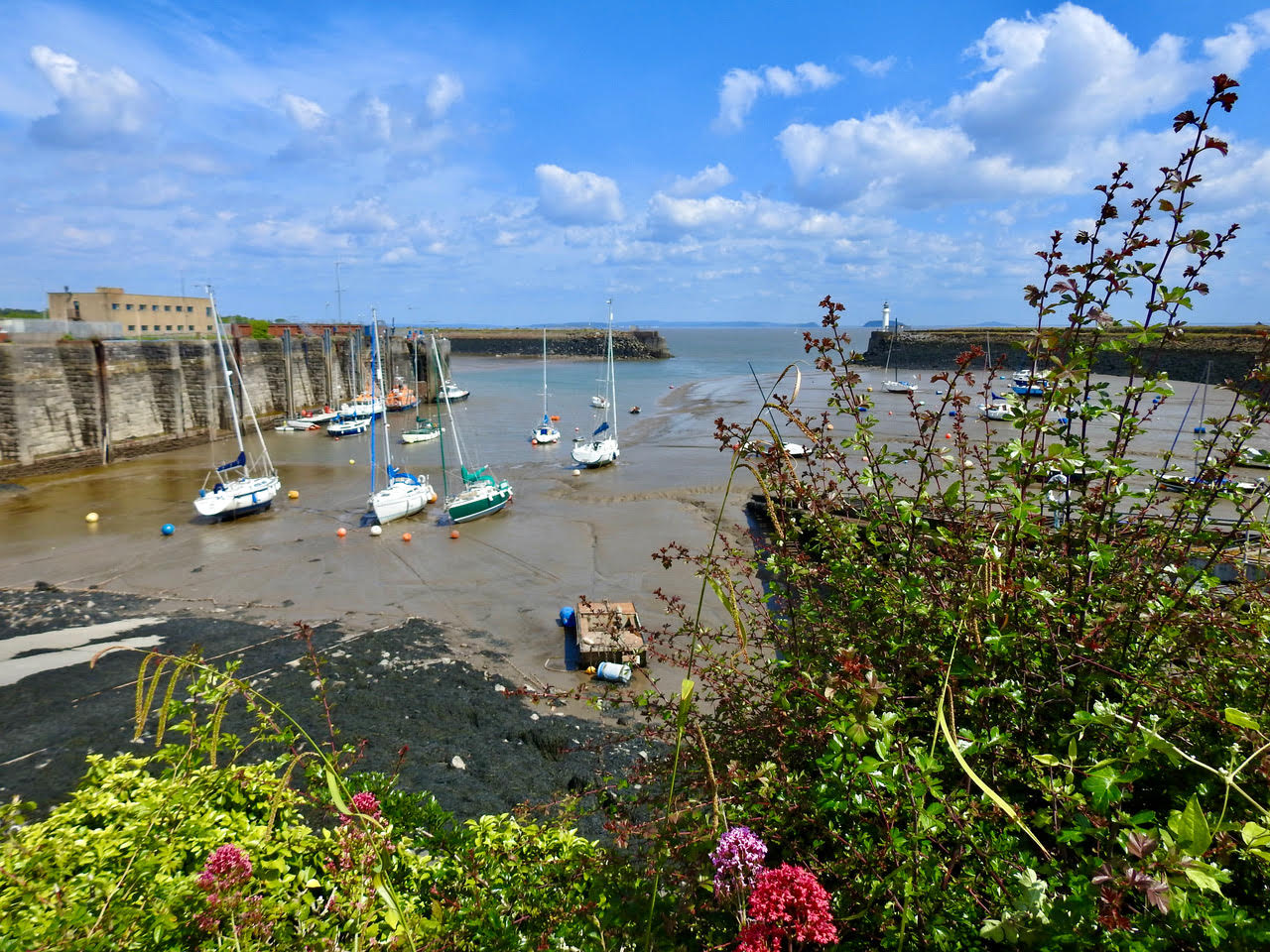 a view of the harbour entrance at Barry Yacht Club